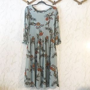 Le Lis Baby Blue Ethereal Midi Dress Size M